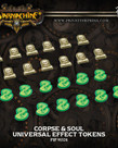 Privateer Press - PIP Warmachine/Hordes - Universal Effect Tokens: Corpse & Soul