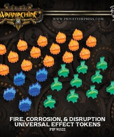 Privateer Press - PIP Warmachine/Hordes - Universal Effect Tokens: Fire, Corrosion, & Disruption