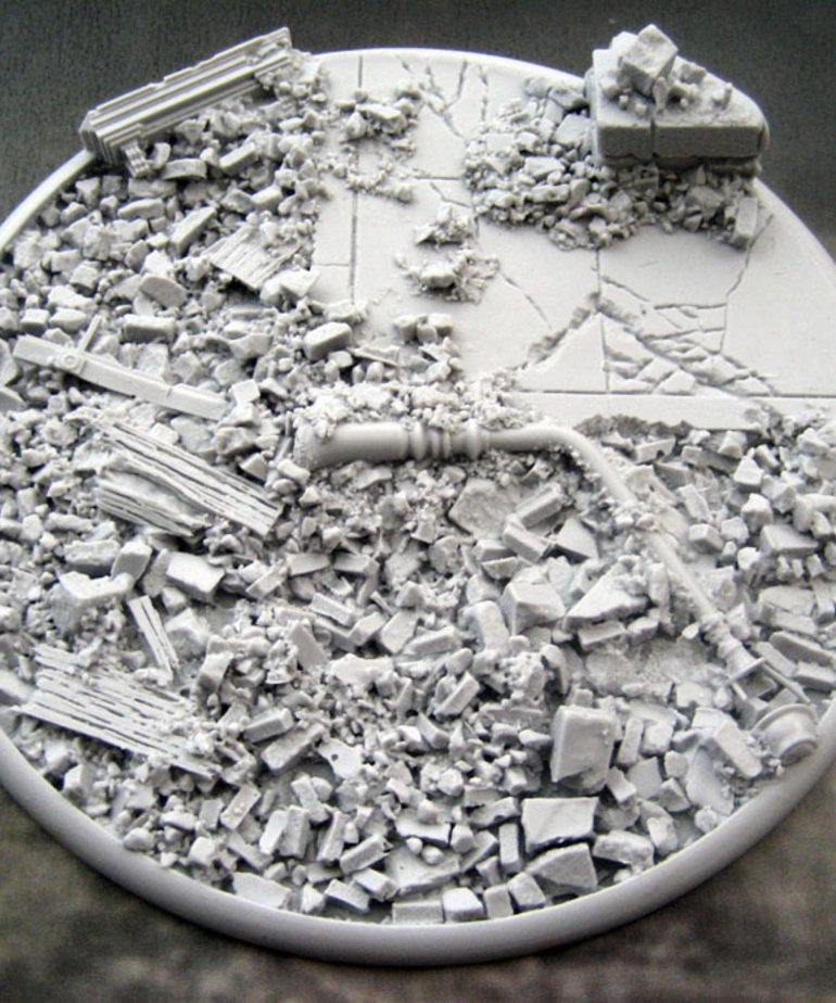Secret Weapon Miniatures - SWM CLEARANCE Urban Rubble 120mm Base (1) Secret Weapon Bases