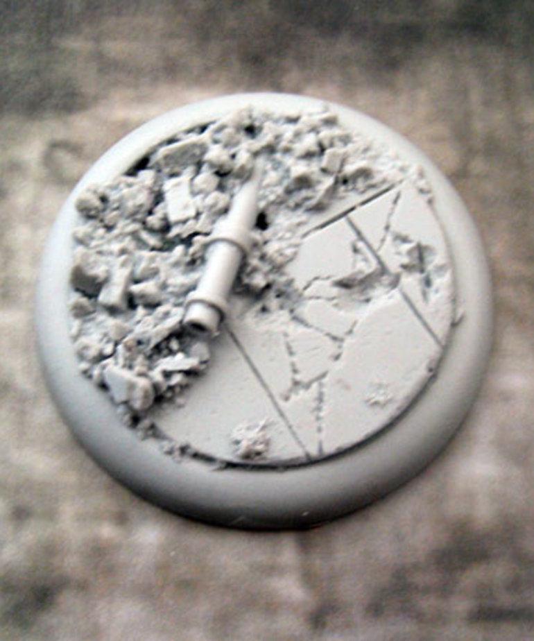 Secret Weapon Miniatures - SWM Urban Rubble Base 03 50mm Secret Weapon Bases BLACK FRIDAY NOW