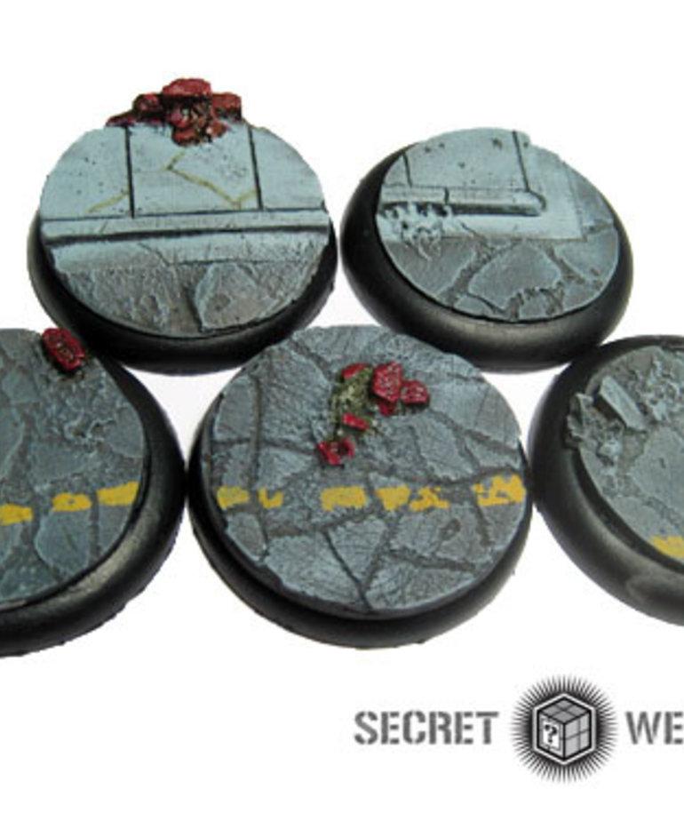 Secret Weapon Miniatures - SWM Urban Streets (5) 40mm Secret Weapon Bases BLACK FRIDAY NOW