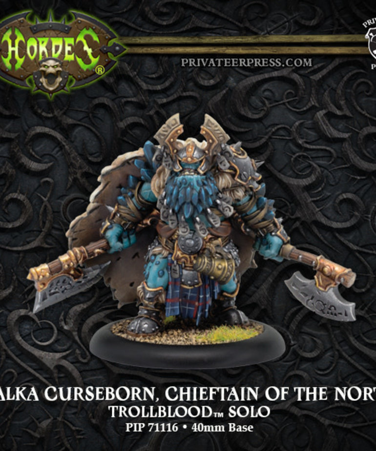 Privateer Press - PIP Hordes - Trollbloods - Valka Curseborn, Chieftan of the North - Solo