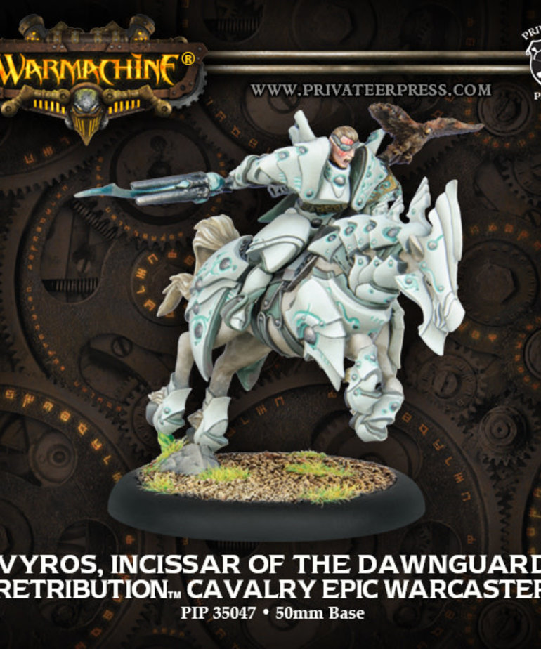 Privateer Press - PIP Warmachine - Retribution of Scyrah - Vyros, Incissar of the Dawnguard - Cavalry Epic Warcaster (Vyros 2)