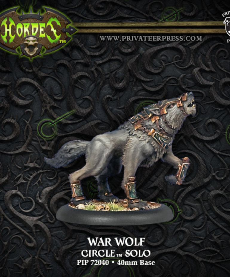 Privateer Press - PIP Hordes - Circle Orboros - War Wolf - Solo