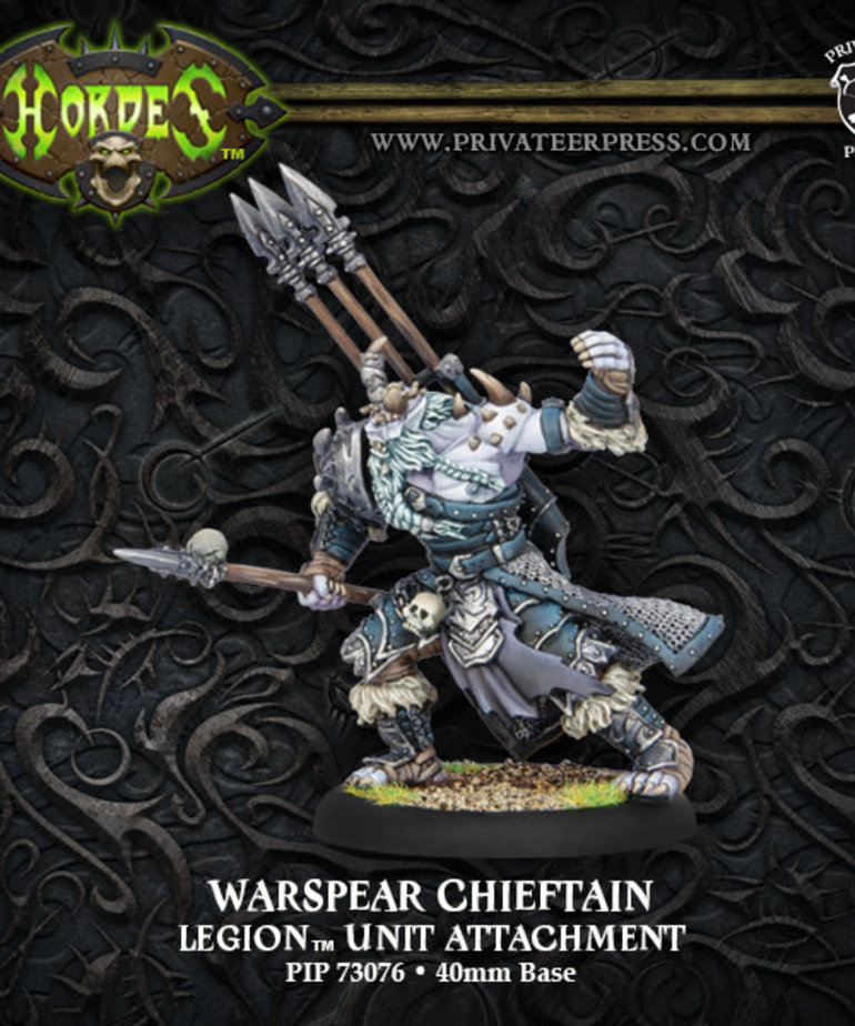 Privateer Press - PIP Hordes - Legion of Everblight - Warspear Chieftain - Unit Attachment