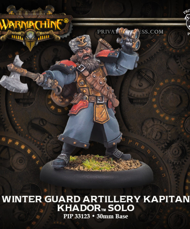 Privateer Press - PIP Warmachine - Khador - Winter Guard Artillery Kapitan - Solo