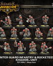 Privateer Press - PIP Warmachine - Khador - Winter Guard Infantry & Rocketeers - Unit