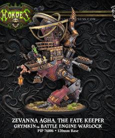 Privateer Press - PIP Hordes - Grymkin - Zevanna Agha, The Fate Keeper - Battle Engine Warlock (Zevanna 1)