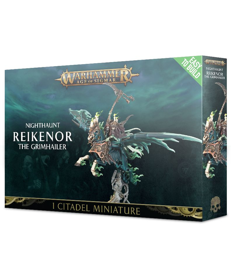 Games Workshop - GAW Warhammer Age of Sigmar - Nighthaunt - Reikenor the Grimhailer - Easy to Build