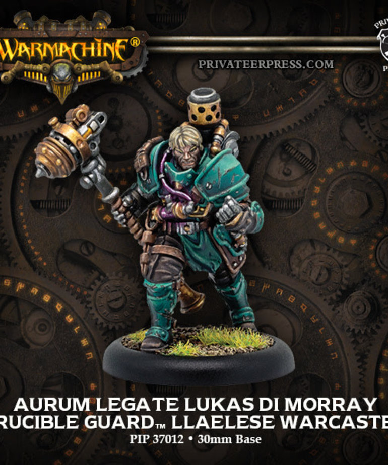 Privateer Press - PIP Warmachine - Crucible Guard - Aurum Legate Lukas di Morray - Llaelese Warcaster (Lukas 1)