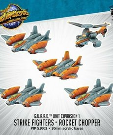 Privateer Press - PIP Monsterpocalypse - G.U.A.R.D - Strike Fighters & Rocket Chopper - Unit Expansion 1