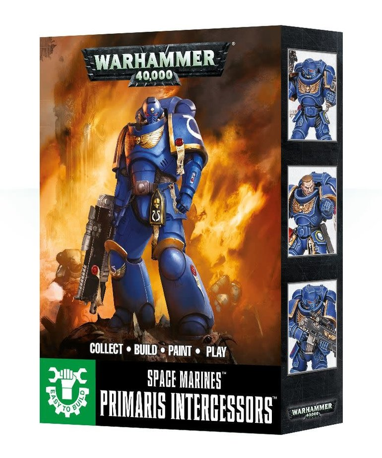 Games Workshop - GAW Warhammer 40k - Space Marines - Primaris Intercessors - Easy to Build