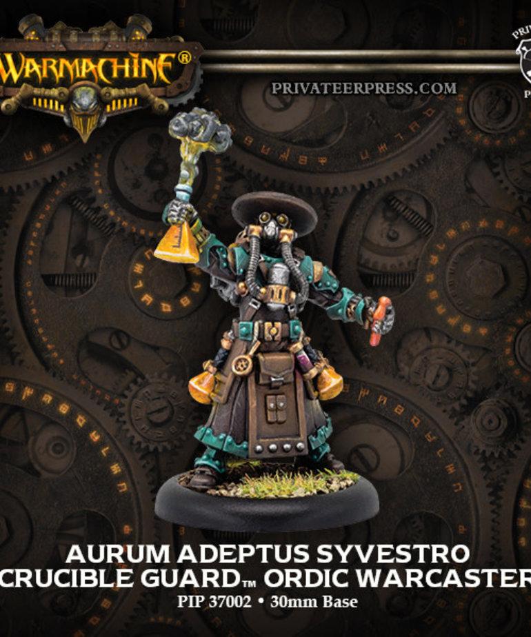 Privateer Press - PIP Warmachine - Crucible Guard - Aurum Adeptus Syvestro - Ordic Warcaster (Syvestro 1)