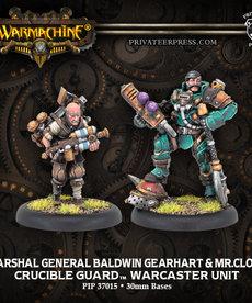 Privateer Press - PIP Warmachine - Crucible Guard - Marshal General Baldwin Gearheart & Mr. Clogg - Warcaster Unit (Gearhart 1)