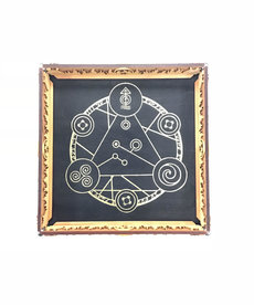 Elderwood Academy Elderwood Academy: Scroll Rolling Tray Black - Spell Circle