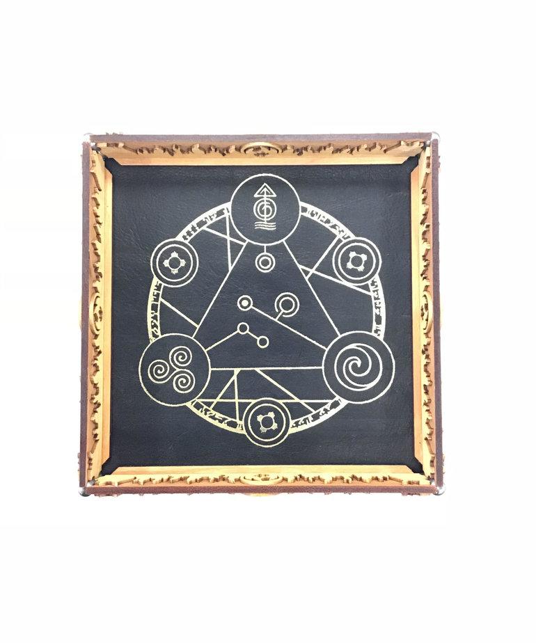 Elderwood Academy Elderwood Academy: Scroll Rolling Tray Black - Spell Circle
