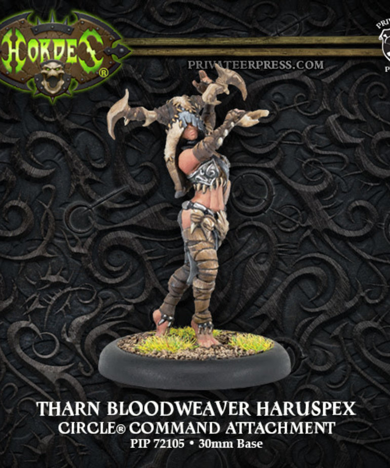 Privateer Press - PIP Hordes - Circle of Orboros - Tharn Bloodweaver Haruspex - Command Attachment