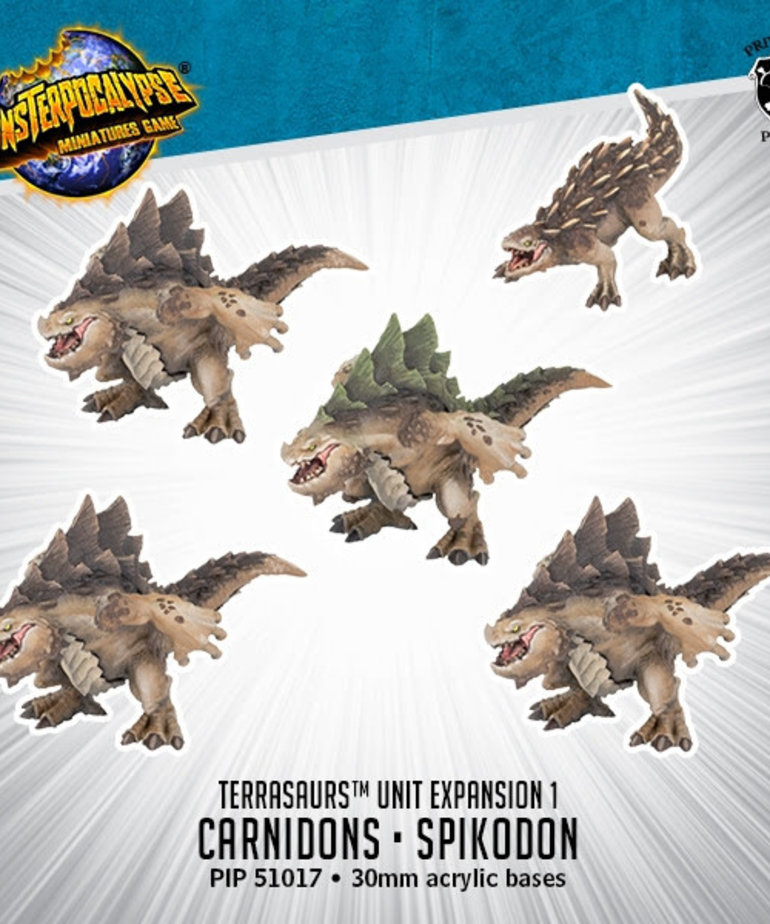 Privateer Press - PIP Monsterpocalypse - Terrasaurs - Carnidon & Spikodon - Unit Expansion 1