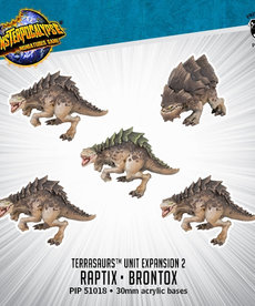 Privateer Press - PIP Monsterpocalypse - Terrasaurs - Raptix & Brontox - Unit Expansion 2