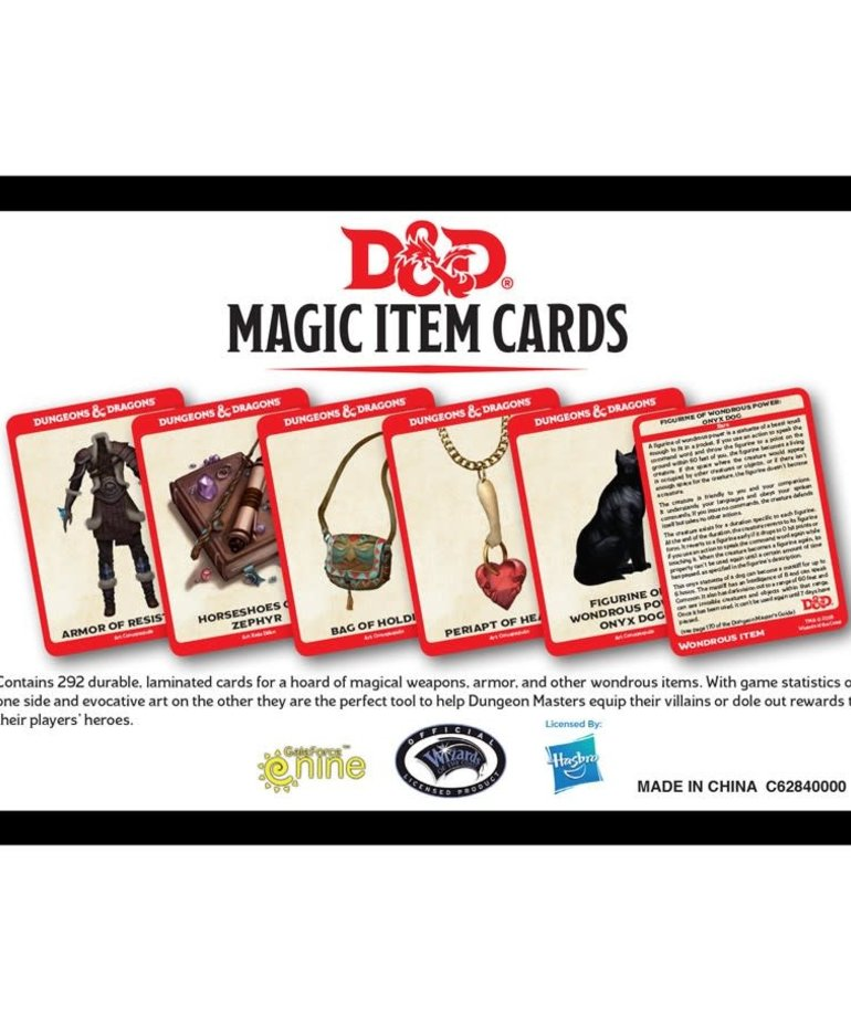 Gale Force Nine - GF9 D&D: 5th - Magic Item Cards