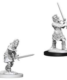 WizKids - WZK Pathfinder Battles: Deep Cuts - Male Human Barbarian