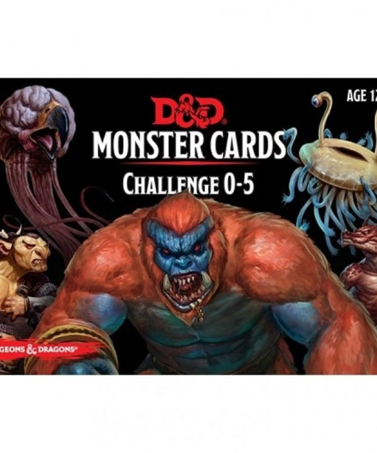 Gale Force Nine - GF9 D&D: 5th - Monster Cards Challenge 0-5