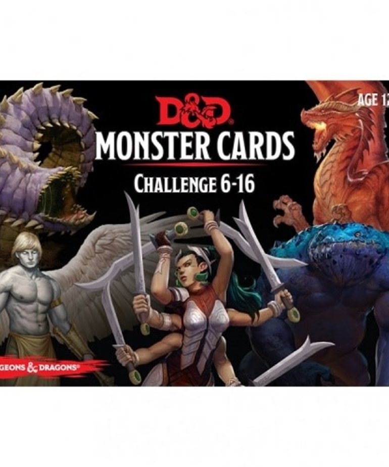 Gale Force Nine - GF9 D&D: 5th - Monster Cards Challenge 6-16