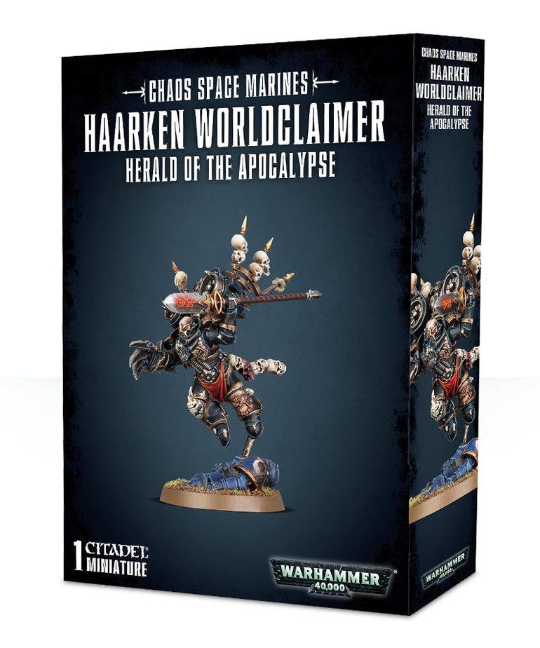 Games Workshop - GAW Warhammer 40K - Chaos Space Marines - Haarken Worldclaimer - Herald of the Apocalypse