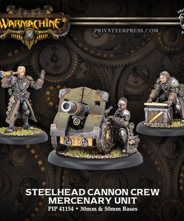 Privateer Press - PIP Warmachine - Mercenaries - Steelhead Cannon Crew - Unit