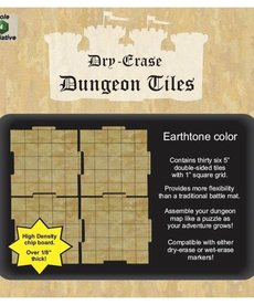 "Role 4 Initiative - R4I Dry-Erase Dungeon Tiles - Earthstone: 5"" Square (36)"