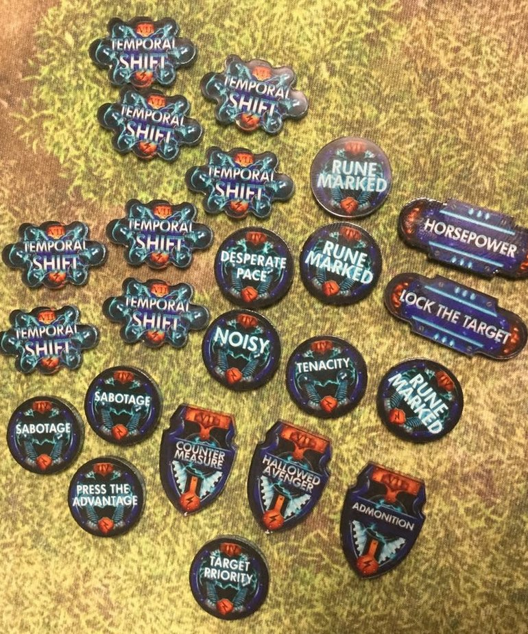 Muse On Minis - MOM Muse on Minis: Tokens - Warmachine/Hordes - The Swans CID 2017 - Color