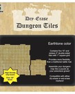 "Role 4 Initiative - R4I Dry-Erase Dungeon Tiles - Earthstone: 10"" & 5"" Square (5 of Each)"