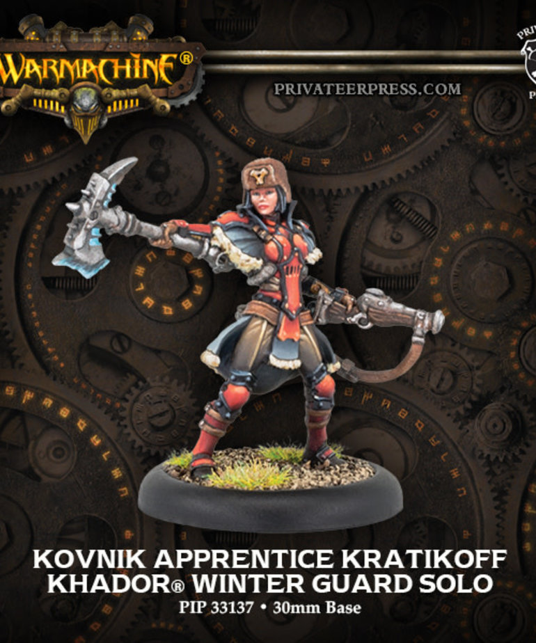 Privateer Press - PIP Warmachine - Khador - Kovnik Apprentice Kratikoff - Winter Guard Solo (Sorscha 0)