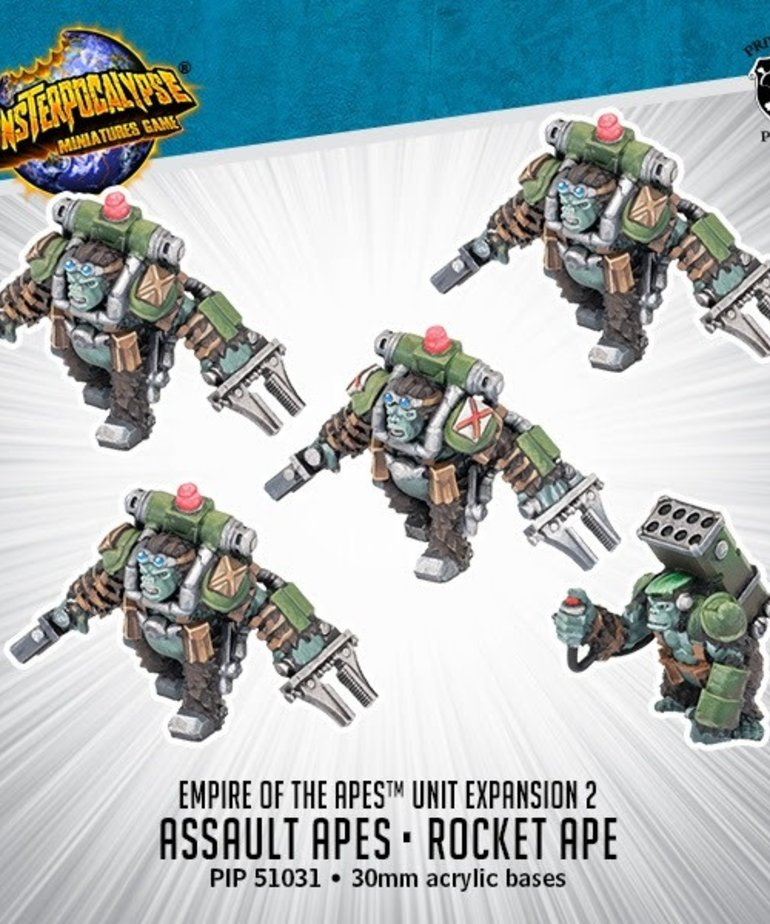 Privateer Press - PIP Monsterpocalypse - Empire of the Apes - Assault Apes & Rocket Ape - Unit Expansion 2