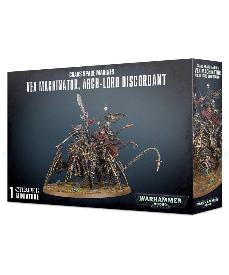 Games Workshop - GAW Warhammer 40K - Chaos Space Marines - Vex Machinator, Arch-Lord Discordant