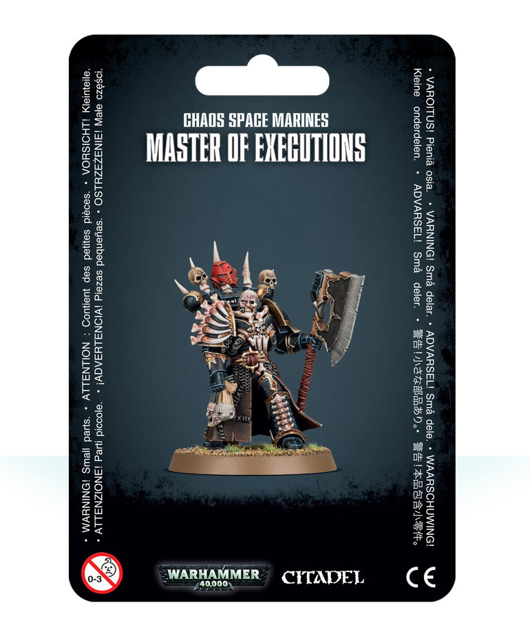 Games Workshop - GAW Warhammer 40K - Chaos Space Marines - Master of Executions