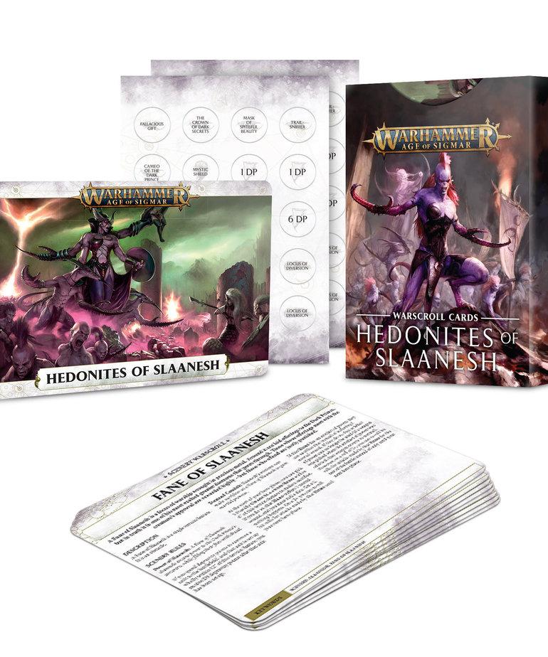 Games Workshop - GAW Warhammer Age of Sigmar - Warscroll Cards: Hedonites of Slaanesh