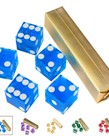 GSE Games & Sports Expert - GSE GSE Games: Dice - Casino 19mm D6 5-Die Set -