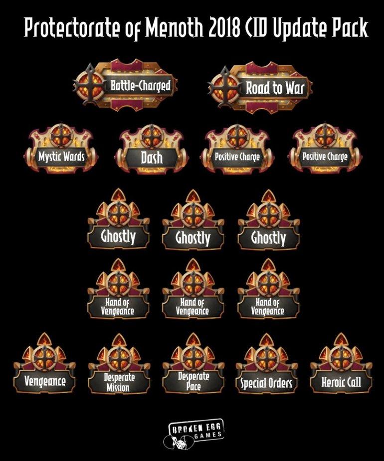 Broken Egg Games - BEG Broken Egg Games: Tokens - Warmachine/Hordes - Protectorate of Menoth - CID Update Pack - Fall 2018