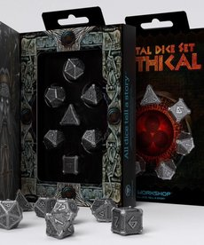 Q-Workshop - QWO Q-Workshop: Dice - Polyhedral 7-Die Set - Metal Mythical Dice