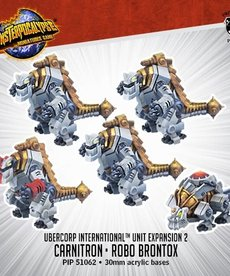 Privateer Press - PIP Monsterpocalypse - UberCorp International - Carnitrons and Robo Brontox - Unit Expansion 2