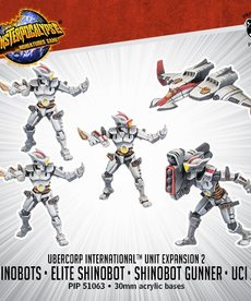 Privateer Press - PIP Monsterpocalypse - UberCorp International - Shinobots, Elite Shinobot, Shinobot Gunner & UCI Jet - Unit Expansion 2