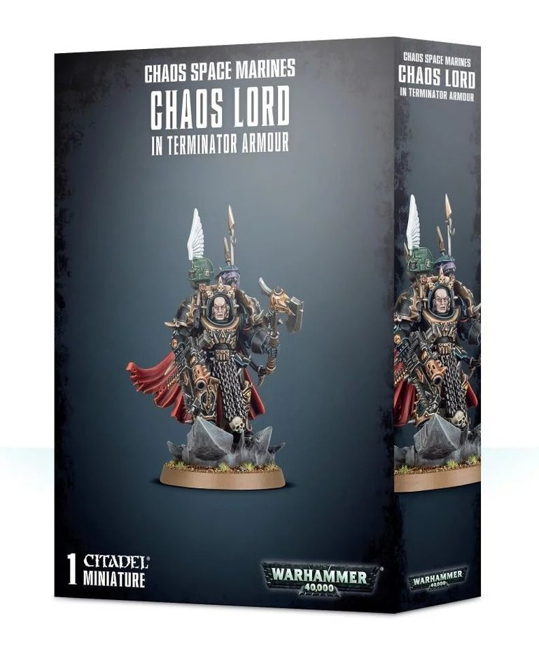 Warhammer 40K Warhammer 40K - Chaos Space Marines - Chaos Lord in Terminator Armour