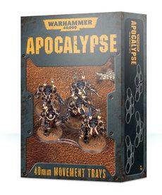 Games Workshop - GAW Warhammer 40K: Apocalypse - 40mm Movement Trays