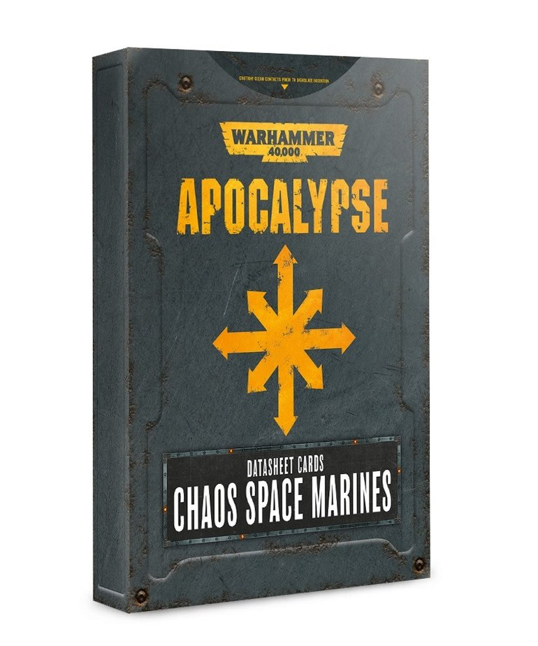 Games Workshop - GAW Warhammer 40K: Apocalypse - Datasheet Cards: Chaos Space Marines