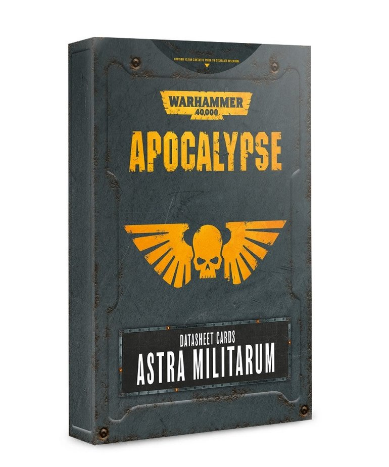 Games Workshop - GAW Warhammer 40K: Apocalypse - Datasheet Cards: Astra Militarum