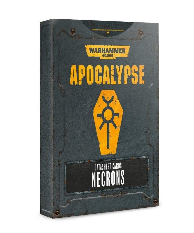 Games Workshop - GAW Warhammer 40K: Apocalypse - Datasheet Cards: Necrons