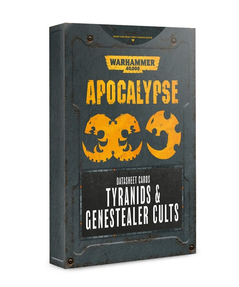 Games Workshop - GAW Warhammer 40K: Apocalypse - Datasheet Cards: Tyranids & Genestealer Cults