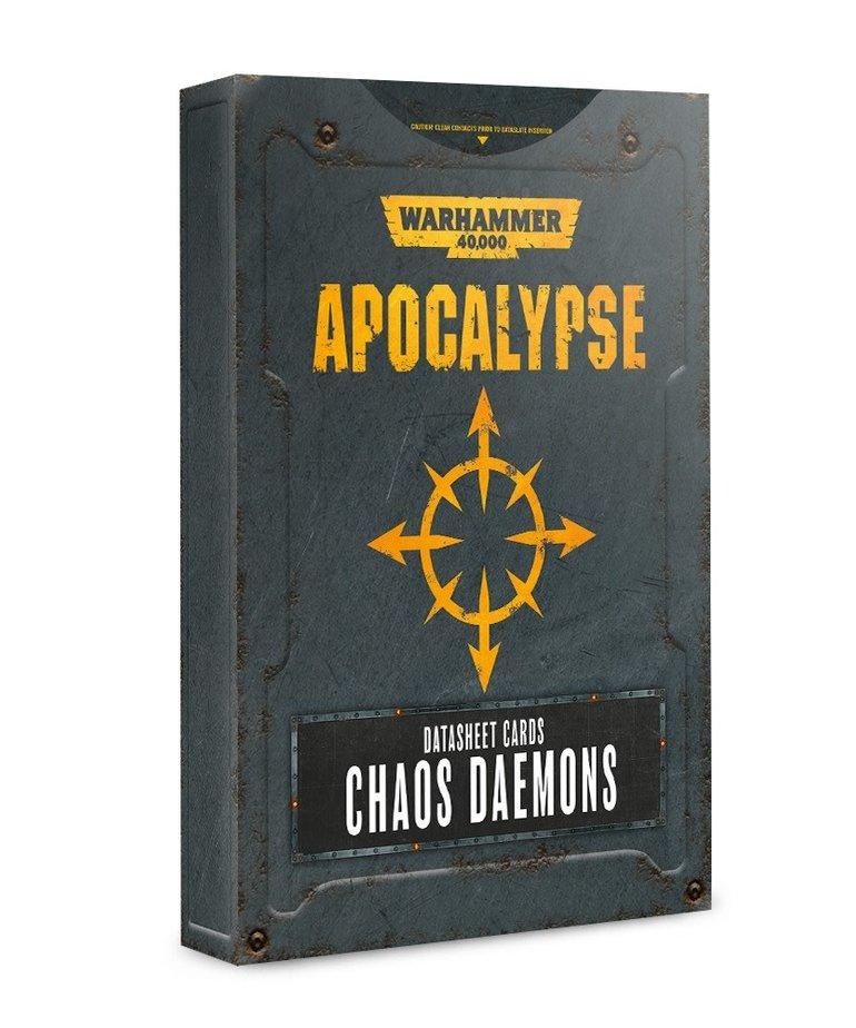 Games Workshop - GAW Warhammer 40K: Apocalypse - Datasheet Cards: Chaos Daemons