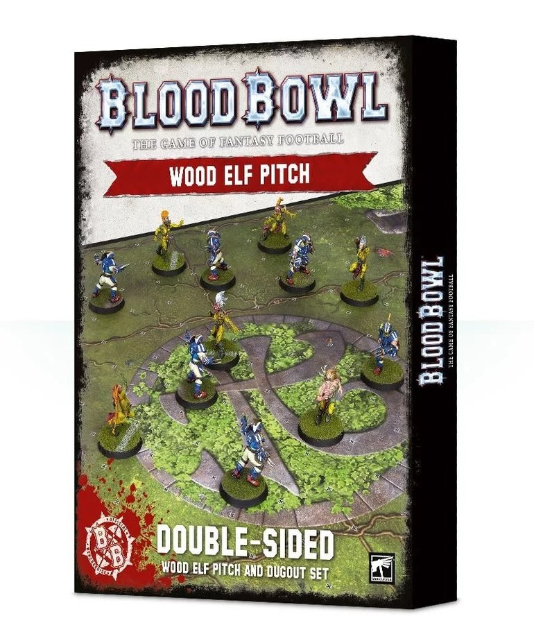 Games Workshop - GAW Blood Bowl - Wood Elf Team - Wood Elf Pitch